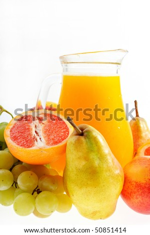 Fresh mixed fruit juice ready to drink
