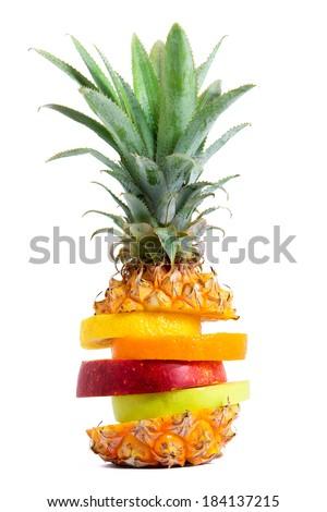 Fresh Mixed Tropical Fruit - stock photo