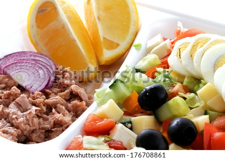 fresh mixed vegetables salad extreme close up ,very healthy food  - stock photo