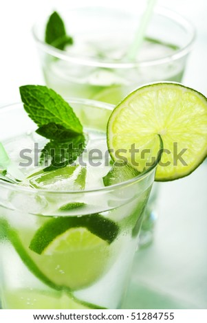 fresh mojito - stock photo
