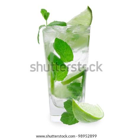 Fresh mojito drink - stock photo