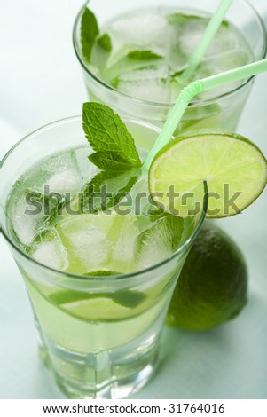 fresh mojito glasses