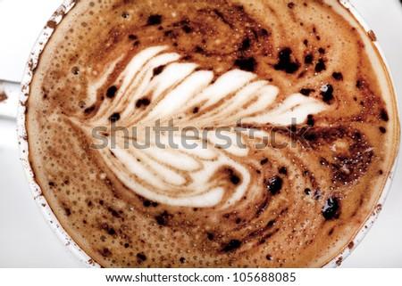 fresh mug of delicious coffee - stock photo