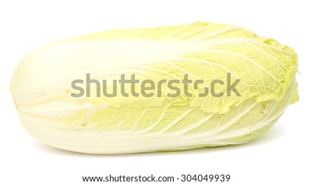fresh napa cabbage isolated on white