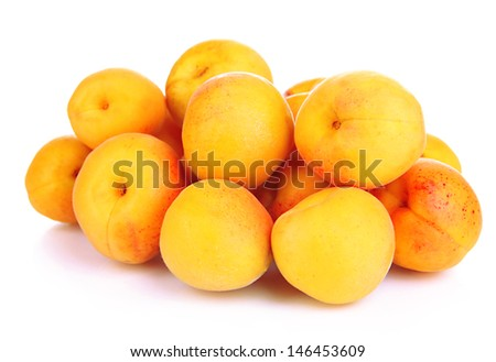 Fresh natural apricot isolated on white