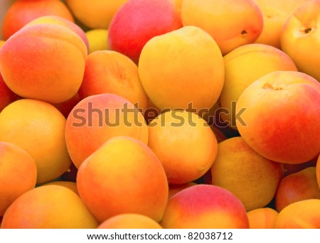 Fresh natural apricot to background - stock photo