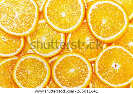 Fresh Natural background with Orange Slice - stock photo