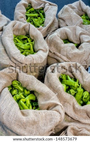 Fresh natural Peppers ripe and ready to eat - stock photo