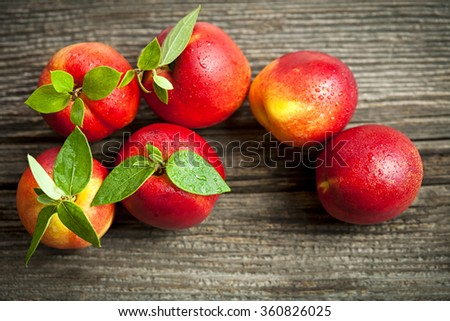 fresh nectarines - stock photo