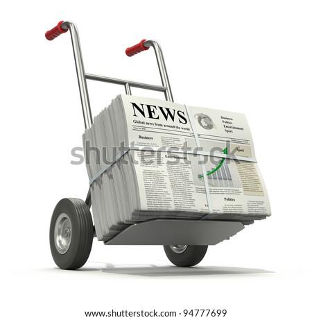Fresh newspaper concept. - stock photo