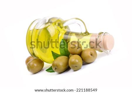 Fresh oil olives - stock photo