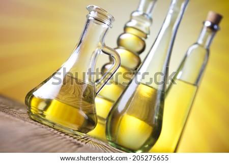 Fresh olive oil  - stock photo