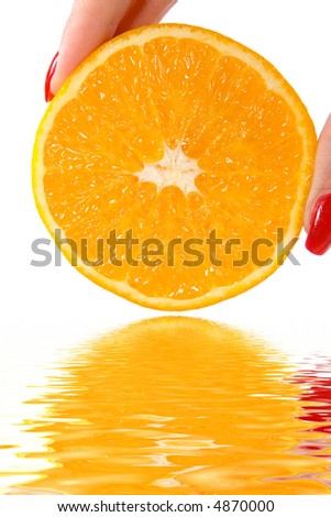 fresh orange and water