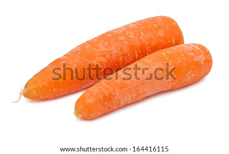Fresh orange carrot isolated on white background
