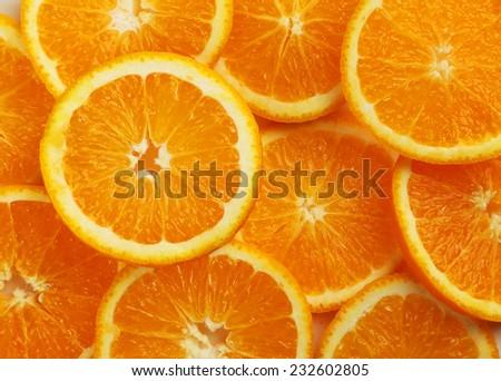 Fresh orange fruit background - stock photo