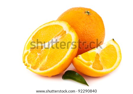 fresh orange isolated on a white background