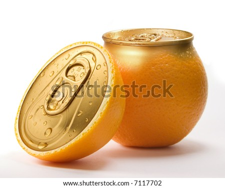 Fresh orange juice.  Conceptual photo. - stock photo