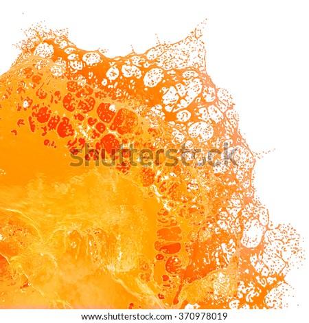 Fresh Orange Juice splash. - stock photo