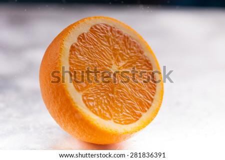Fresh orange slice - stock photo