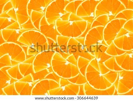 fresh orange slices background - stock photo