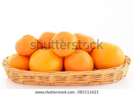 Fresh oranges - stock photo