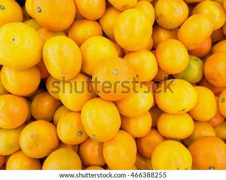 Fresh oranges in the market