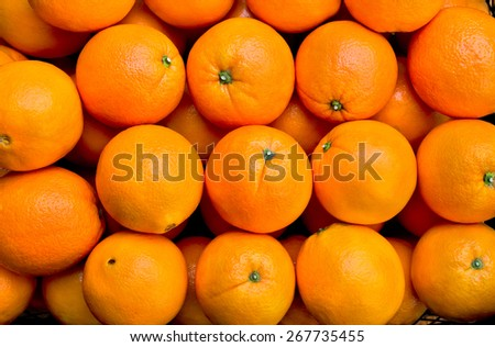 Fresh oranges texture - stock photo