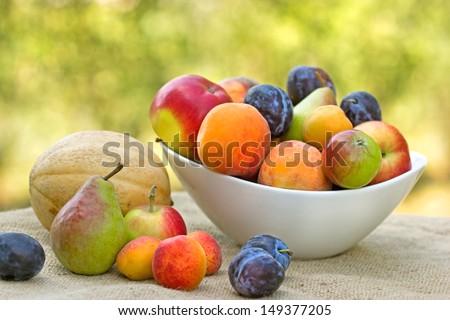 Fresh organic fruits - stock photo