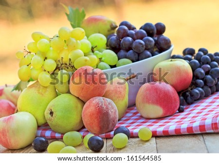 Fresh organic fruits