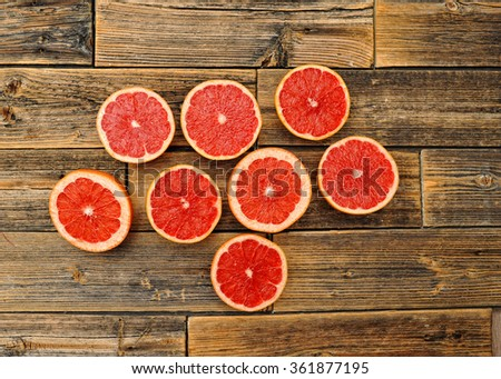 fresh organic pink grapefruit juice ready to drink - stock photo