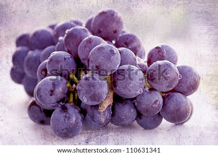 Fresh organic red grapes with a light texture./Red Grapes - stock photo