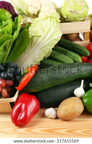 Fresh organic vegetables, close up