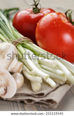 fresh organic vegetables for salad or something - stock photo