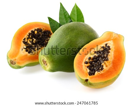 Fresh papaya - stock photo