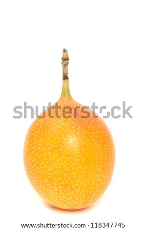 Fresh passionfruit in a studio shot