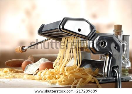 fresh pasta  - stock photo
