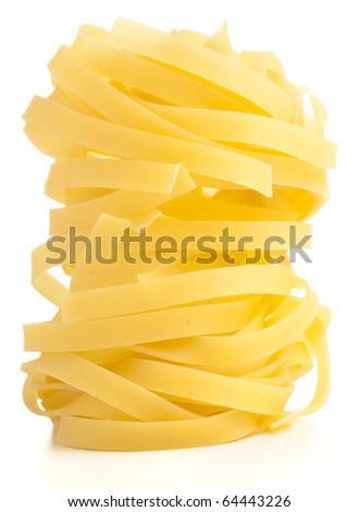 fresh pasta isolated on a white background - stock photo