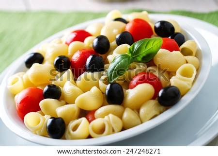 Fresh Pasta Salad - stock photo