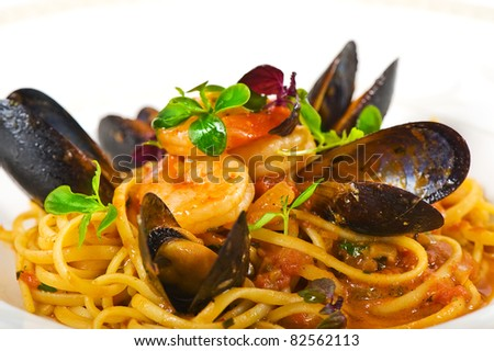 Seafood Pasta Stock Images, Royalty-Free Images & Vectors ...