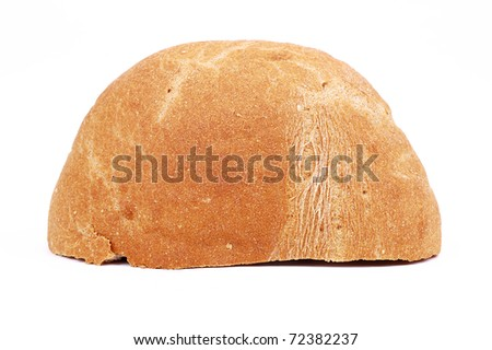 fresh patty on a white background