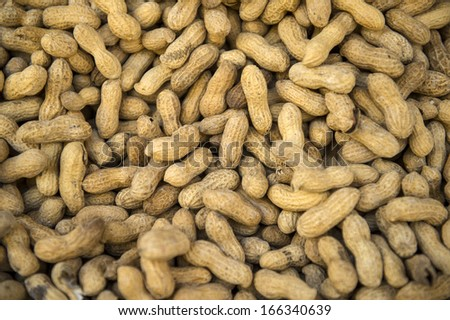 Fresh peanuts from the market on sale