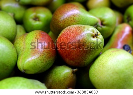 fresh pear in supermarket for sale - stock photo