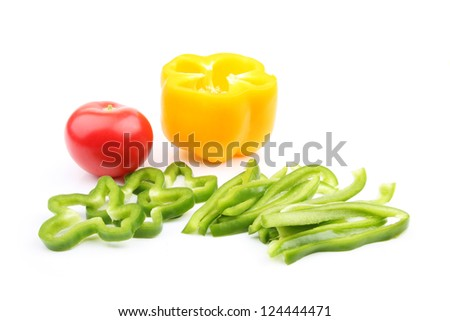 Fresh peppers tomatoes