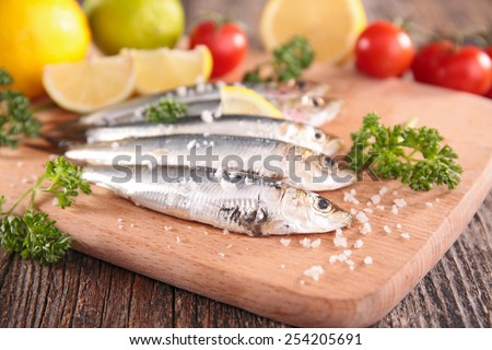 fresh pilchard - stock photo