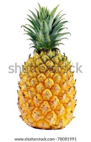 fresh pineapple closeup - stock photo