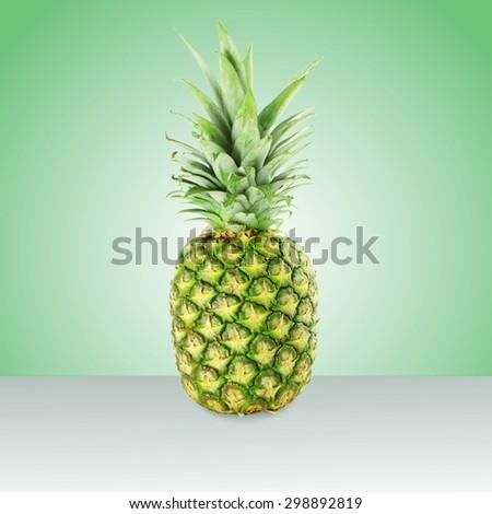 fresh pineapple fruit - stock photo