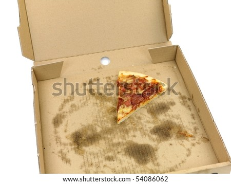 Fresh pizza isolated against a white background - stock photo