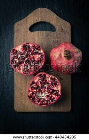 Fresh Pomegranate fruit - stock photo