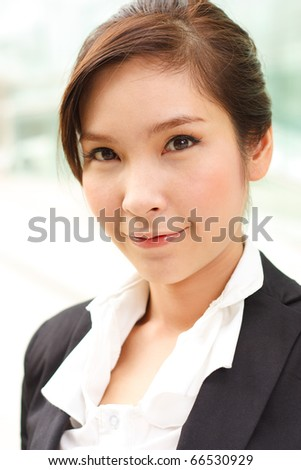 Fresh portrait of attractive business woman