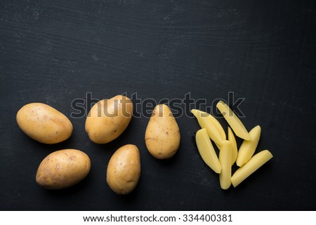 Fresh Potato french fries  - stock photo